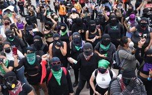 Protestas de mujeres en México en contra de la violencia de género.