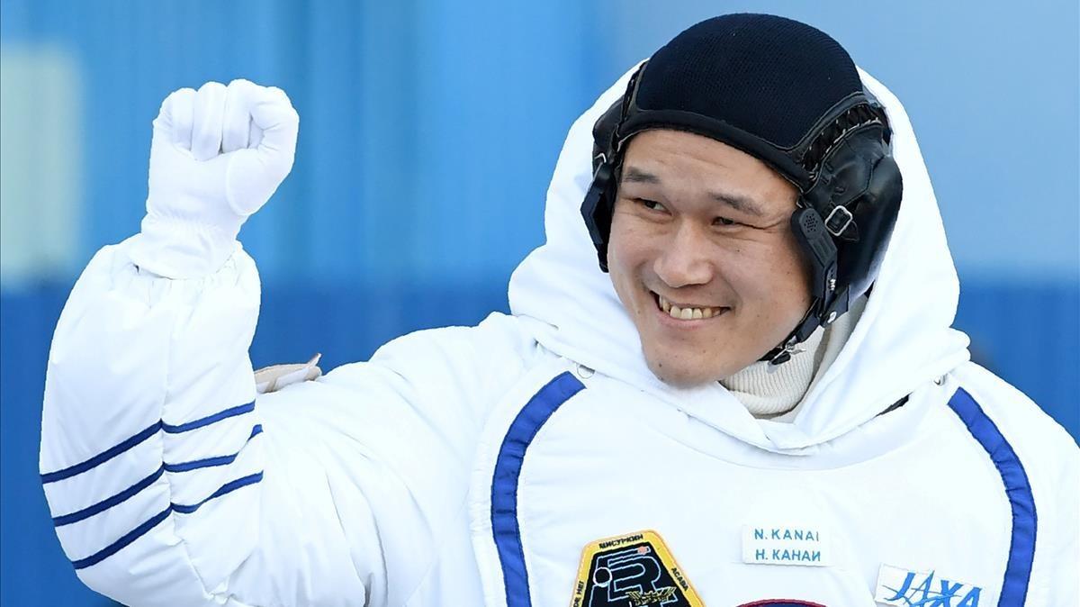 El miembro de la expedición de la Estación Espacial Internacional 54/55Norishige Kanai.