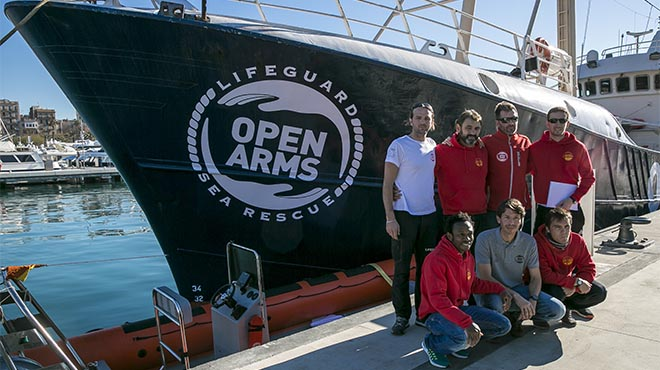 Proactiva Open Arms, lista para retomar los rescates en el Mediterráneo en pleno invierno