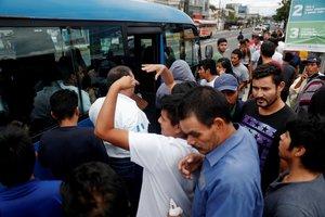 Migrantes guatemaltecos deportados de los Estados Unidos.