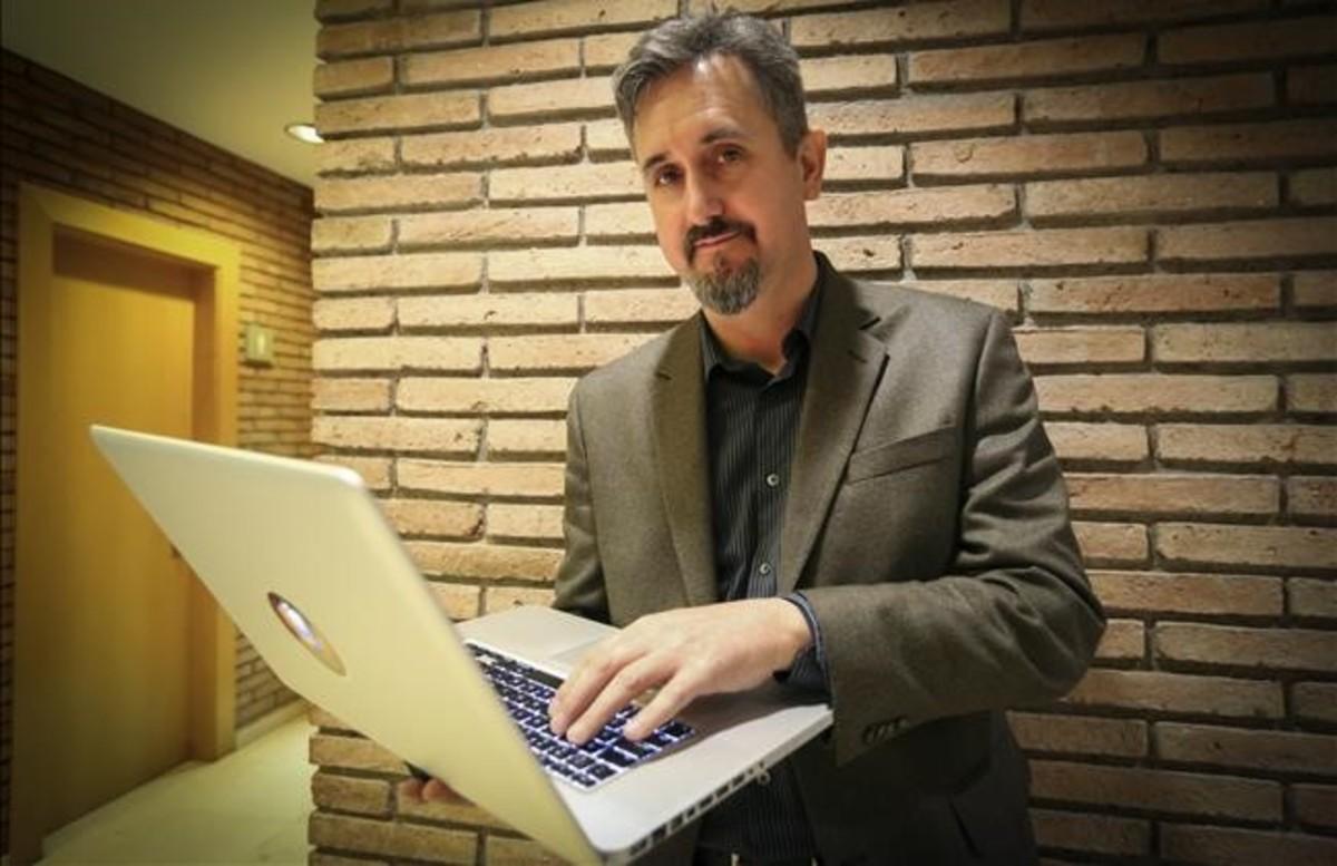 Martin Dougiamas,creador de la plataforma tecnológica educativa Moodle, este miércoles en Barcelona.