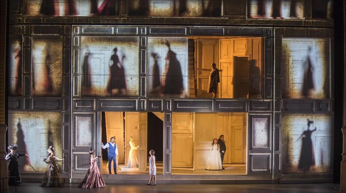 Un momento de la representación de Don Giovanni en el Liceu.