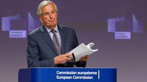 El negociador europeo, Michel Barnier, en Bruselas.