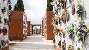 Nichos en el cementerio de Sabadell.