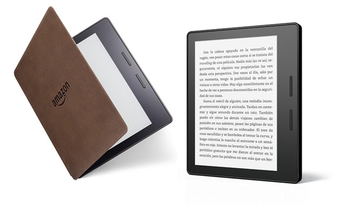 El nuevo Kindle Oasis de Amazon.