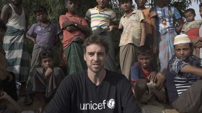 Pau Gasol muestra su faceta más solidaria en Bangladés