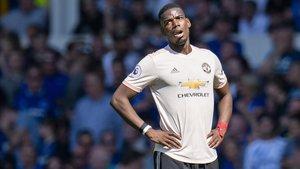 Pogba en la derrota del United ante el Everton (4-0).