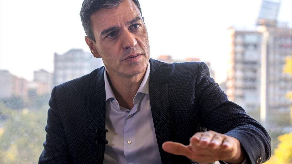 Pedro Sánchez, durante la entrevista.
