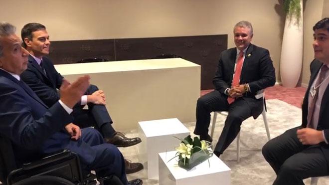 Pedro Sánchez habla sobre Venezuela con los presidentes de Costa Rica, Colombia y Ecuador.