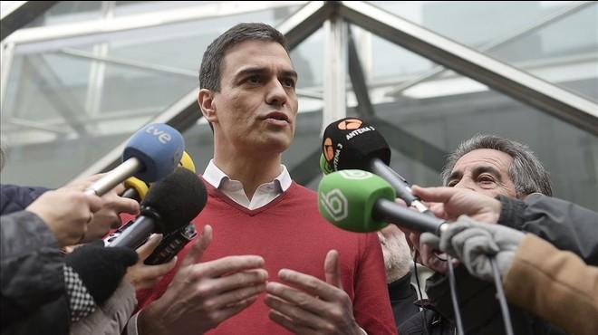 Sánchez rechaza cualquier tentación de pactar con Rajoy