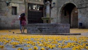 La plaza de Sant Felip Neri.