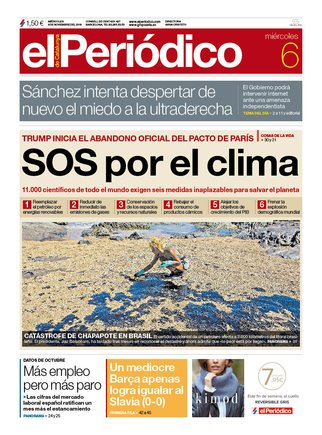 Prensa de hoy: Las portadas de los periódicos del miércoles 6 de noviembre del 2019