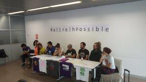 Presentación y firma del manifiesto conjunto de diferentes entidades de L'Hospitalet, el pasado 4 de noviembre