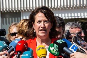 La presidenta de la ANC, Elisenda Paluzie, el 1 de octubre del año pasado, en Barcelona.