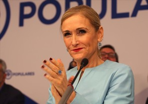 La presidenta de la comunidad de Madrid, Cristina Cifuentes, en un acto reciente de partido