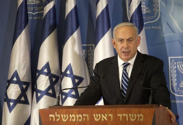 El primer ministro israelí, Binyamin Netanyahu, ofrece una rueda de prensa en Tel-Aviv, en noviembre del 2012.