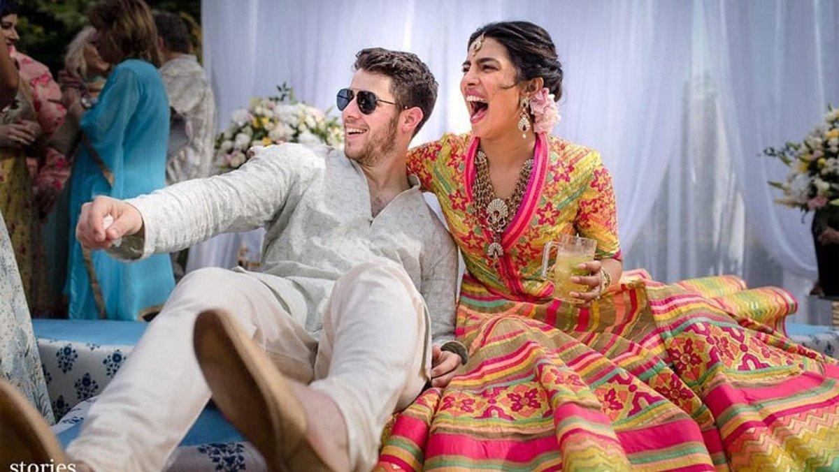 Priyanka Chopra y Nick Jonas, en una de las ceremonias previas a la boda.