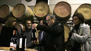 El president Quim Torra visitala Cooperativa Agrícola de Batea (Tarragona)