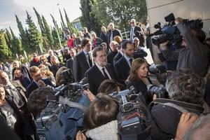 Rajoy, a su llegada al tanatorio de València donde se veló el cuerpo de Rita Barberá.