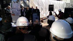 Acto de colocación de la primera piedra de la ampliación de la planta de liofilizados de Reig Jofre en Sant Joan Despí, en enero del 2019.