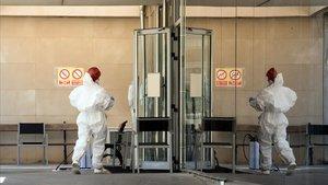 Residencia Sant Josep, de Lleida, donde se produjo un rebrotede coronavirus a principios de julio.