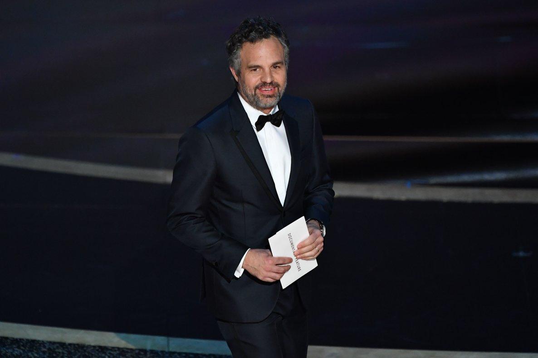 Mark Ruffalo en la premiación de Oscar 2020.