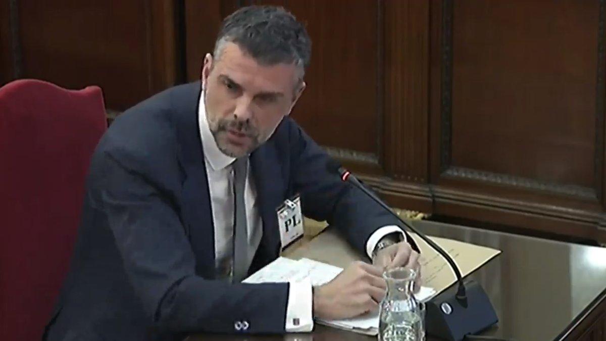 Santi Vila, durante su declaración en el juicio del procés.