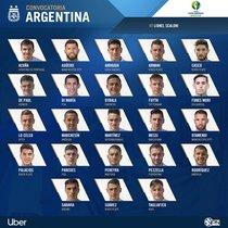 Los 23 convocados de Argentina para la Copa América 2019.
