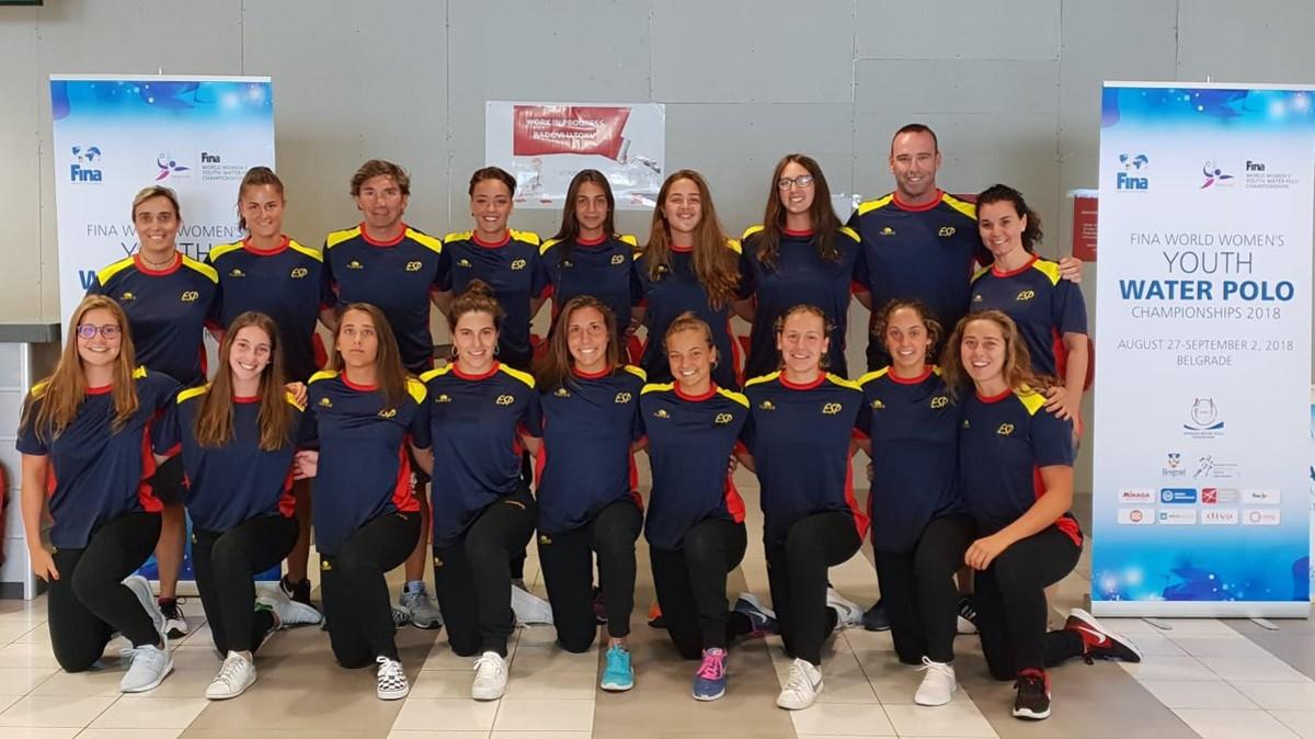La selección española femenina sub-18 en el Mundial de Belgrado