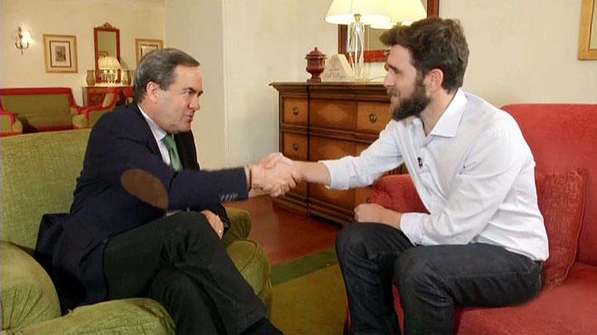 Gonzo entrevistó a José Bono en 'El intermedio' (La Sexta).