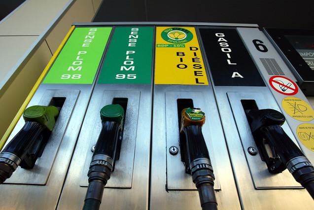 Un surtidor de carburante de Barcelona.