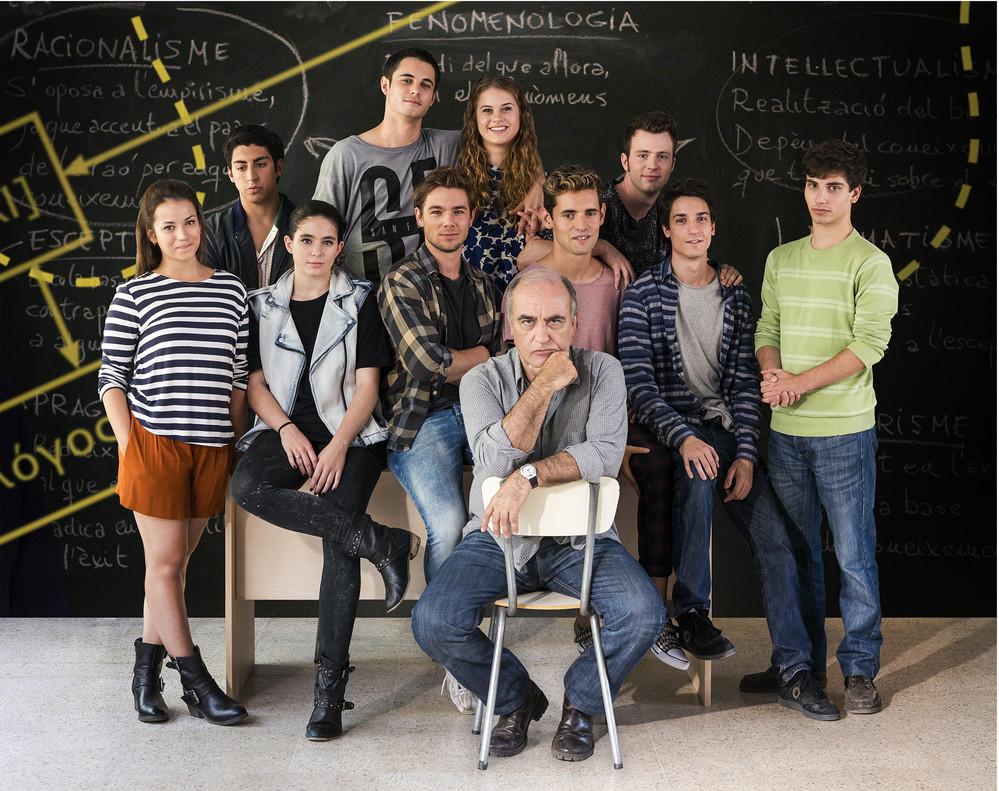 Imagen promocional con los protagonistas de la serie de TV-3 Merlí.