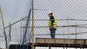 Un trabajador de la construcción, en una obra en Salamanca, el pasado 13 de abril.
