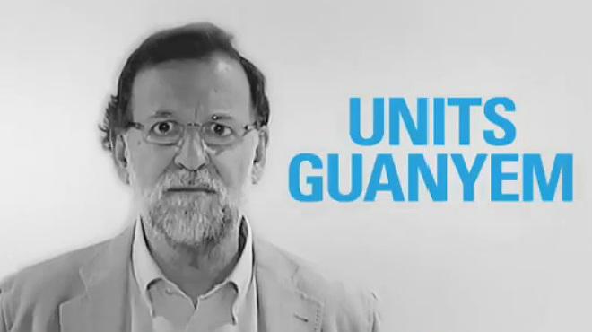 Perquè units guanyem es el último vídeo electoral del PPC, en el que Rajoy y su cúpula, piden en catalán, que España y Catalunya sigan unidas.