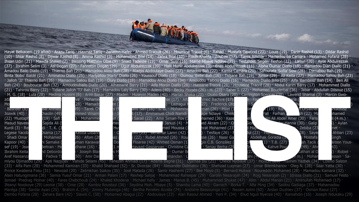 Una lista. 35.597 muertos. El mediterráneo: la frontera más peligrosa