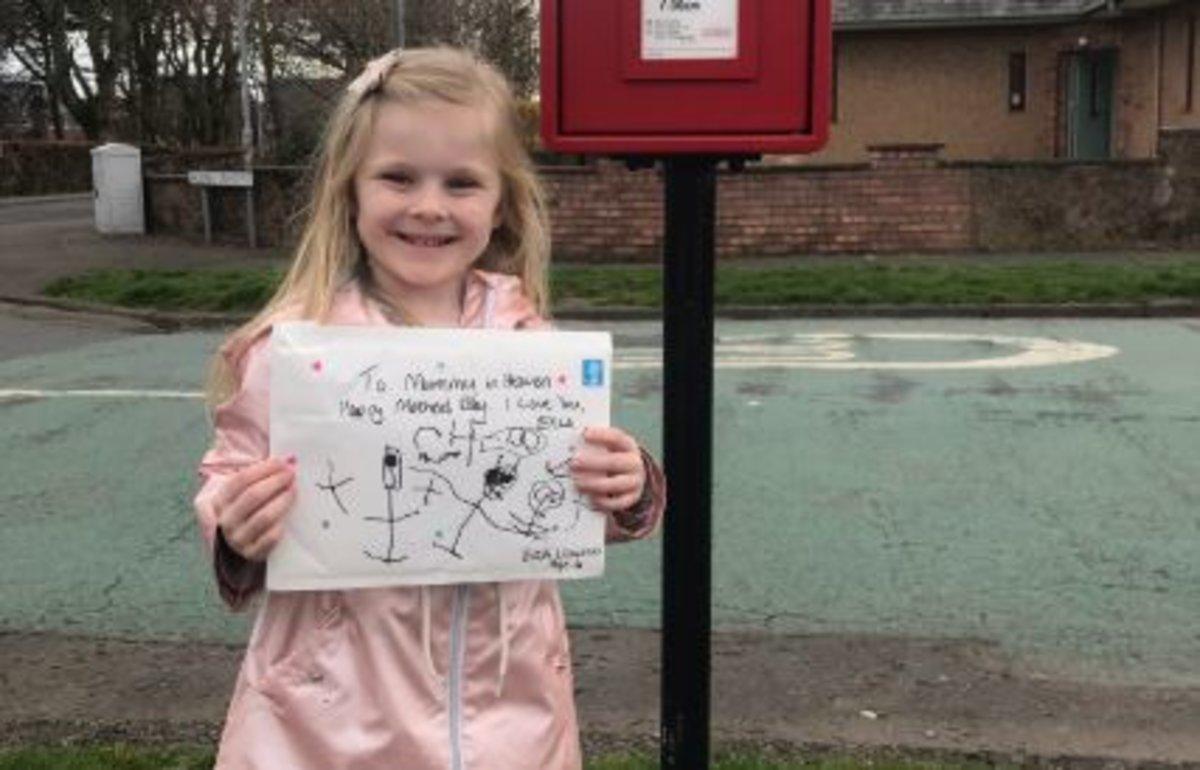 Una niña de cuatro años envía una carta a su madre fallecida y recibe una respuesta