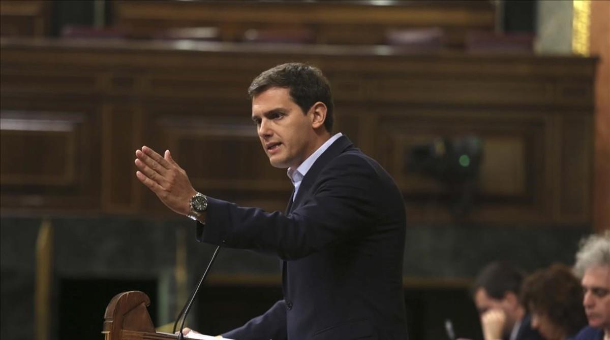 Albert Rivera, el pasado 17 de julio en el Congreso de los Diputados.