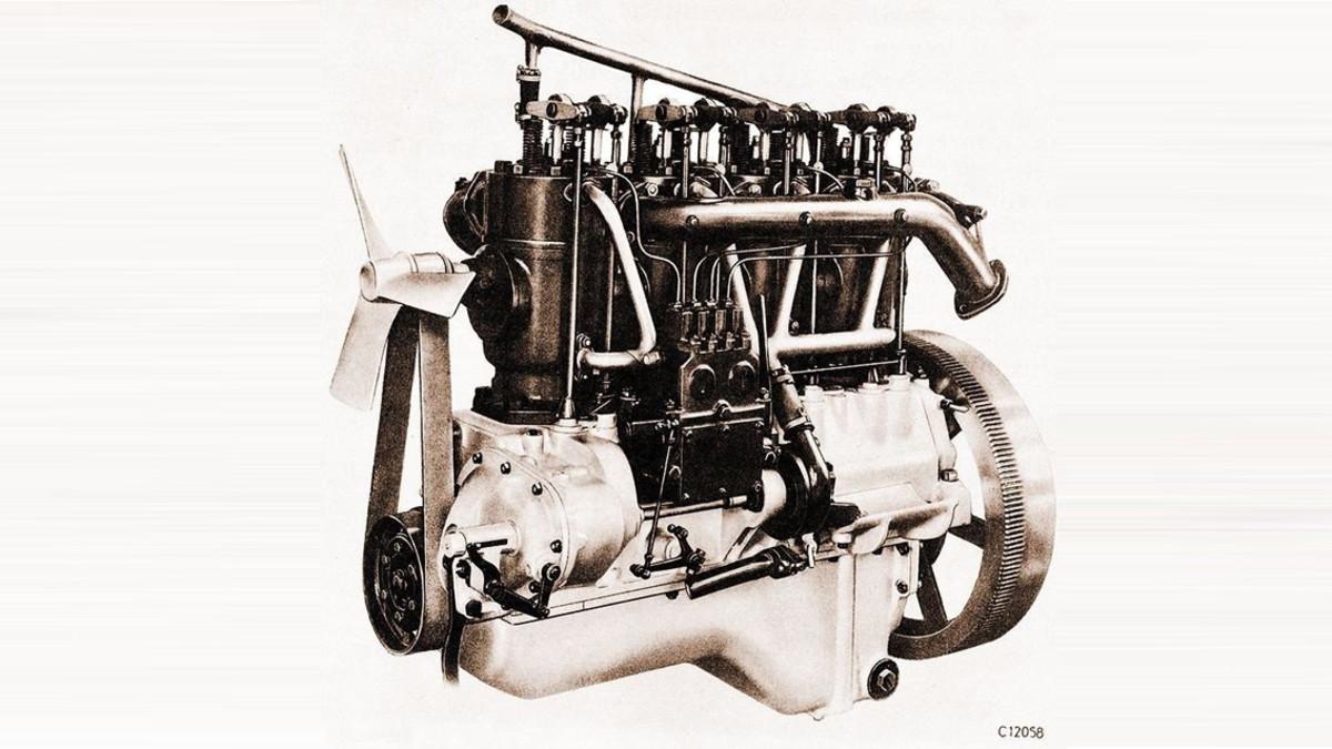 Uno de los primeros motores diésel.
