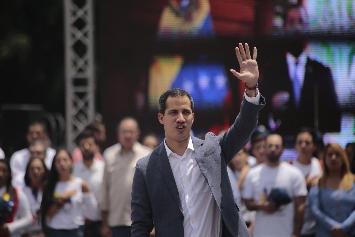 El presidente de la Asamblea Nacional de Venezuela,Juan Guaidó.
