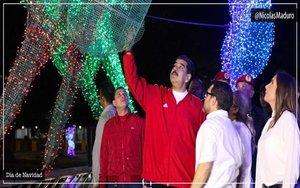 Nicolás Maduro durante las celebraciones de la Navidad.