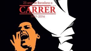 Portada del libro del 25º aniversario de la revista Carrer.
