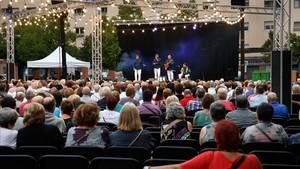 Cantada de habaneras por el grupo Mar i Vent, en la fiesta mayor de Granollers.