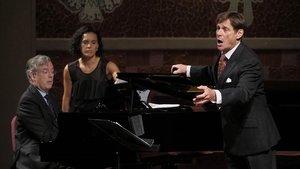 Debut de Simon Keenlyside, conel pianistaMalcolm Martineau, en el Palau de la Musica.