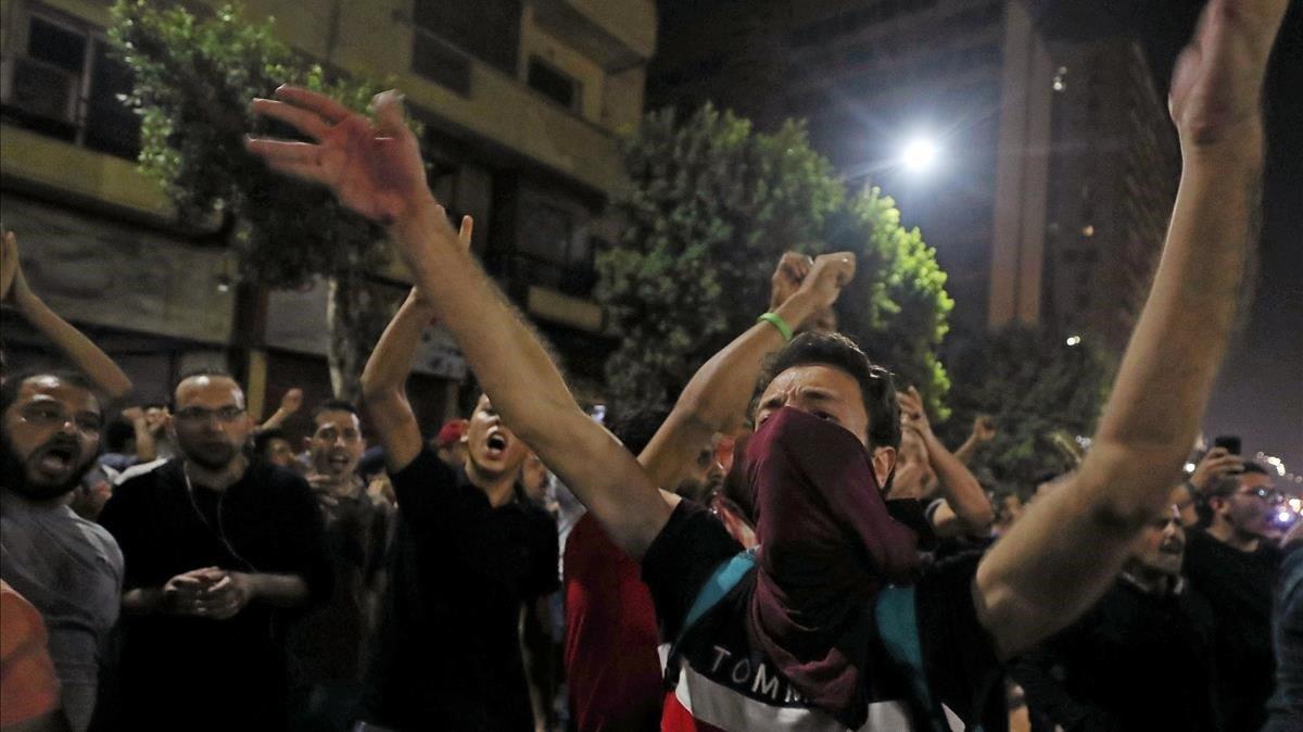 Desenes de detinguts a Egipte en diverses protestes contra Al-Sisi