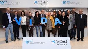 Participantes en el programa de atención integral a las personas con enfermedades avanzadas de La Caixa.