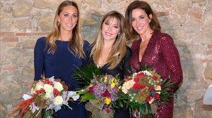 Gemma Mengual, Gisela y Elsa Anka posan en la gala del jueves por la noche en Sant Cugat.