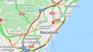 Colapso en las rondas de Barcelona.
