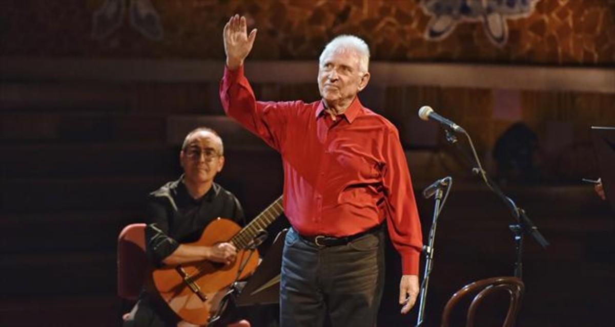 Concert de comiat del cantautor Raimon, ahir a la nit al Palau de la Música de Barcelona.