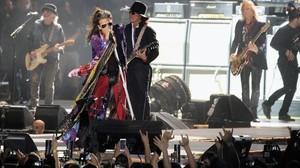 Aerosmith, durante el concierto del auditorio Miguel Ríos de Rivas-Vaciamadrid.