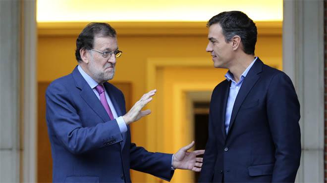 Rajoy y Sánchez se reúnen con el desafío del 1-O sobre la mesa